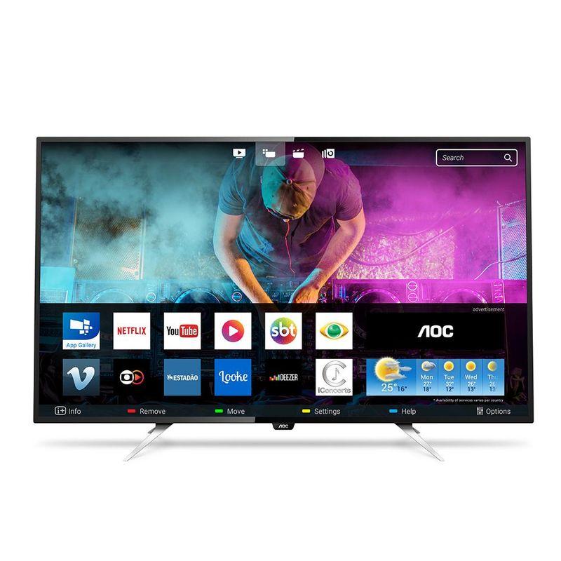 "Tv 50"" Led AOC 4k - Ultra Hd Smart - Le50u7970"