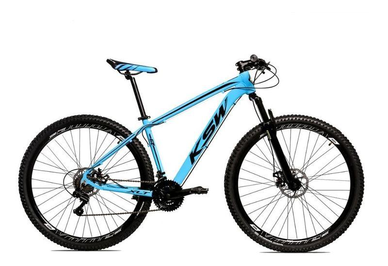 Bicicleta Ksw Xlt Disc M T21 Aro 29 Susp. Dianteira 24 Marchas - Prata/verde