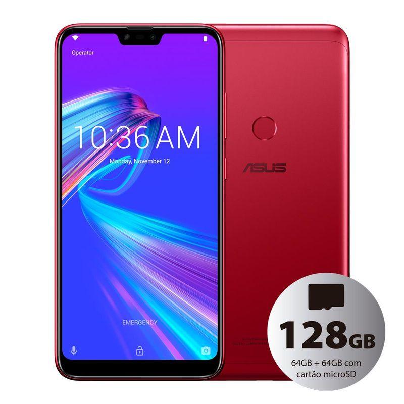 Celular Smartphone Asus Zenfone Shot Plus Zb634kl 128gb Vermelho - Dual Chip