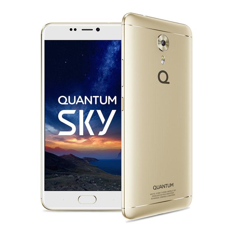 Celular Smartphone Quantum Sky 64gb Dourado - Dual Chip