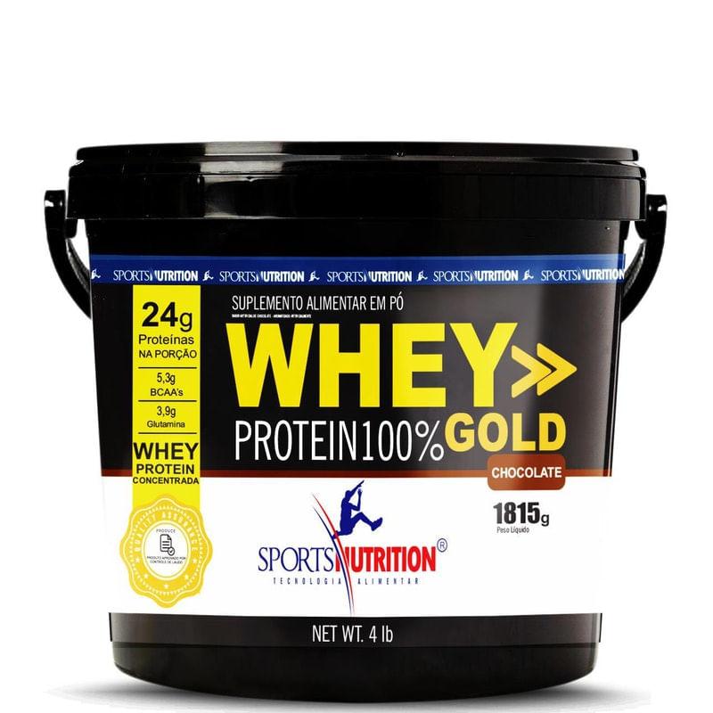 Imagem de Whey Protein 100% Gold Baunilha Sports Nutrition 1.81g