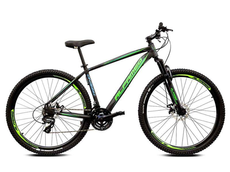 Bicicleta Alfameq Tirreno Disc H T21 Aro 29 Susp. Dianteira 27 Marchas - Preto/verde