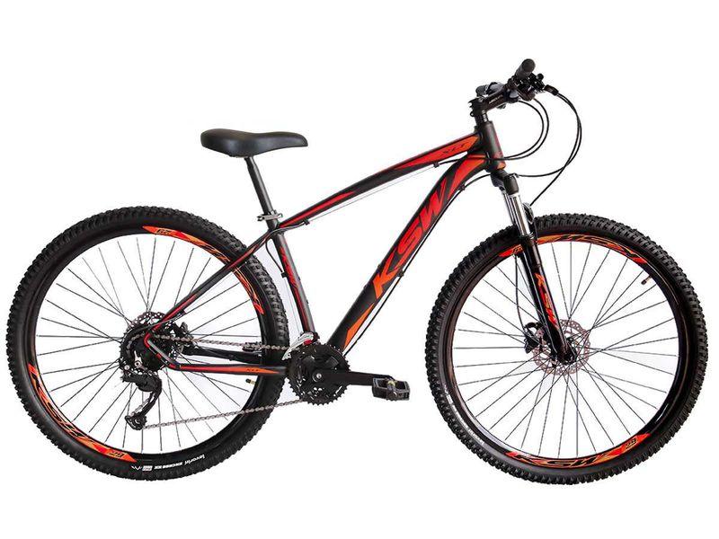 Bicicleta Ksw Xlt 2020 Disc H T21 Aro 29 Susp. Dianteira 27 Marchas - Preto/vermelho