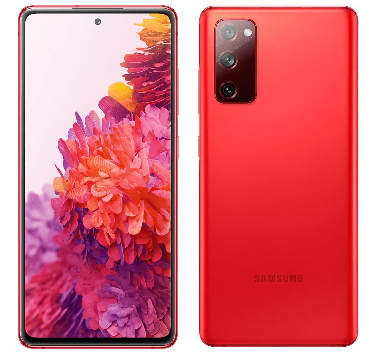 "Smartphone Samsung Galaxy S20 FE 128GB Cloud Red 4G Tela 6.5"" Câmera Frontal 32MP Android 6.6"
