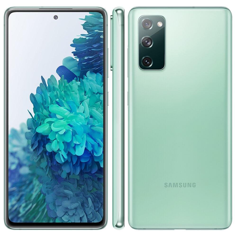 "Smartphone Samsung Galaxy S20 FE 128GB Cloud Mint 4G Tela 6.5"" Câmera Frontal 32MP Android 6.6"