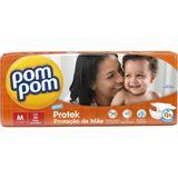 Fraldas Pom Pom Protek M com 30 Unidades