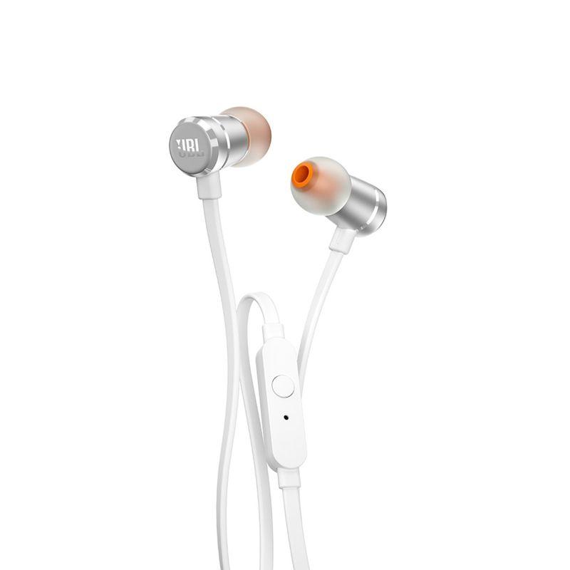Fone de Ouvido Intra-auricular Com Controle Pure Bass Prata Jbl Jblt290sil
