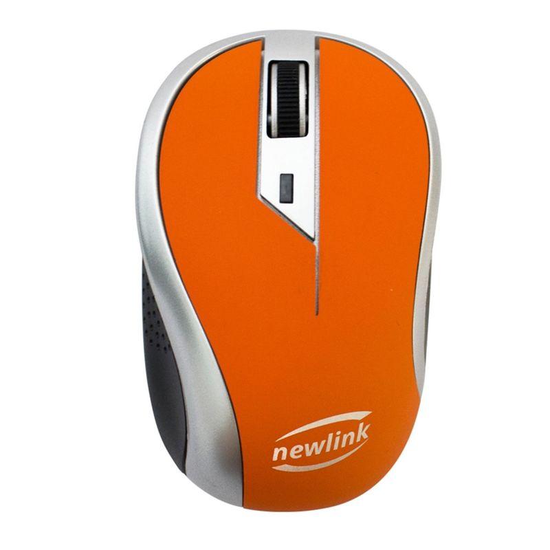 Mouse Wireless Óptico Led 1600 Dpis Wave Newlink