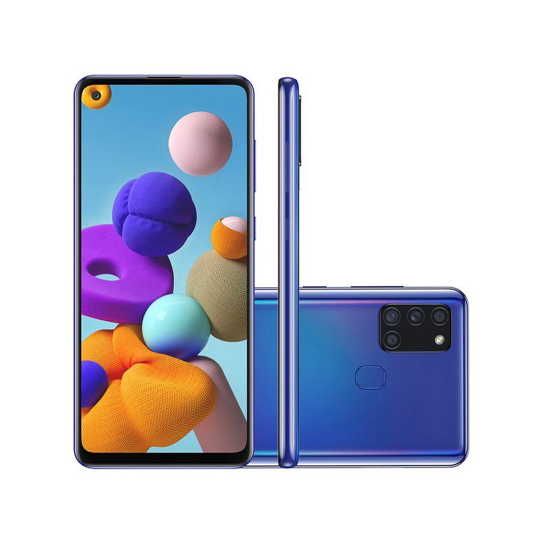 Celular Smartphone Samsung Galaxy A21s - 4gb Ram A217m 64gb Azul - Dual Chip