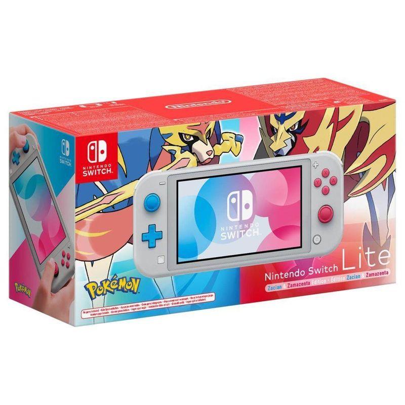 Console Switch Lite Pokémon Edition Zacian e Zamazenta 32gb