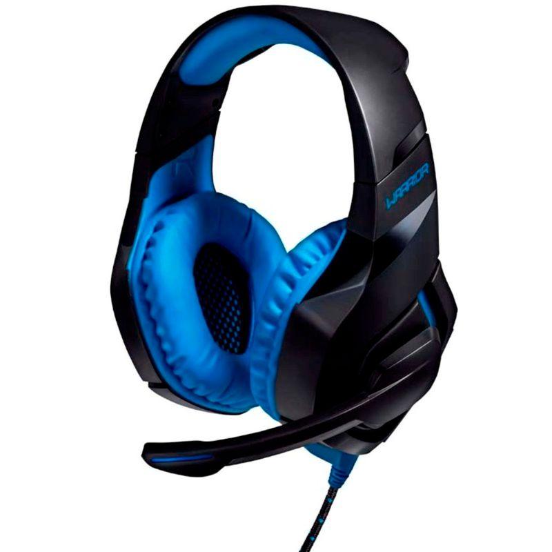 Fone de Ouvido Headset Gamer Warrior 2.0 Preto e Azul Multilaser Ph244