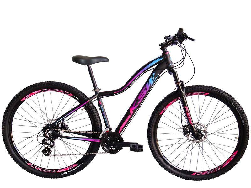 Bicicleta Ksw Mwza Aro 29 Susp. Dianteira 24 Marchas - Branco/rosa