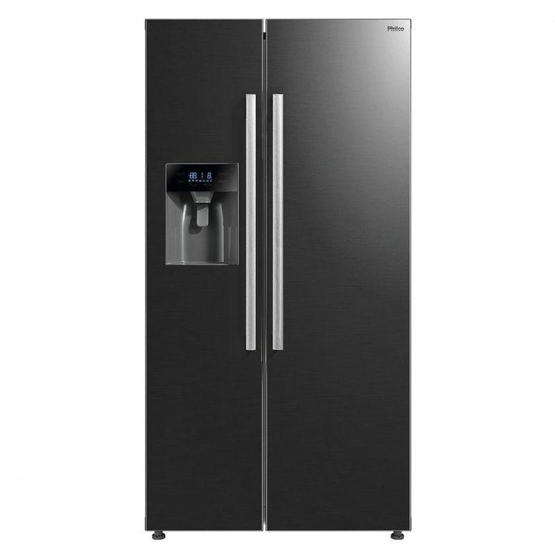 Geladeira/refrigerador 520 Litros 2 Portas Inox Side By Side Touch - Philco - 110v - Prf520dip