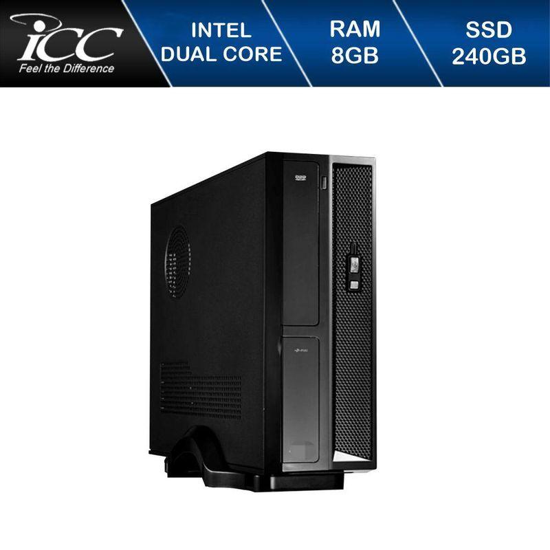 Desktop Icc Sl1887s Celeron J1800 2.41ghz 8gb 240gb Intel Hd Graphics Linux Sem Monitor
