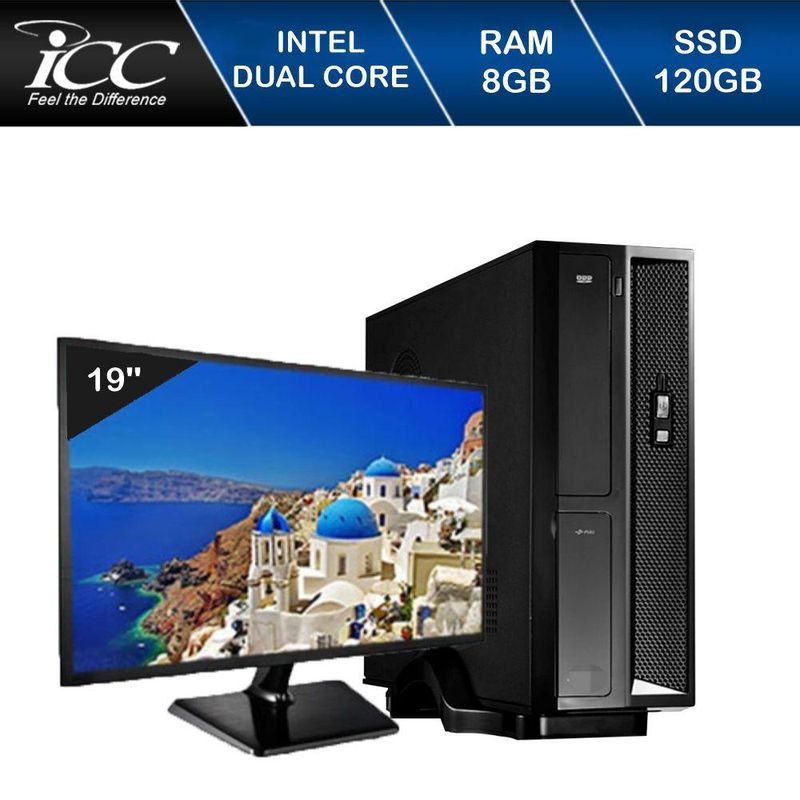 Desktop Icc Sl1886dm19 Celeron J1800 2.41ghz 8gb 120gb Intel Hd Graphics Linux Com Monitor