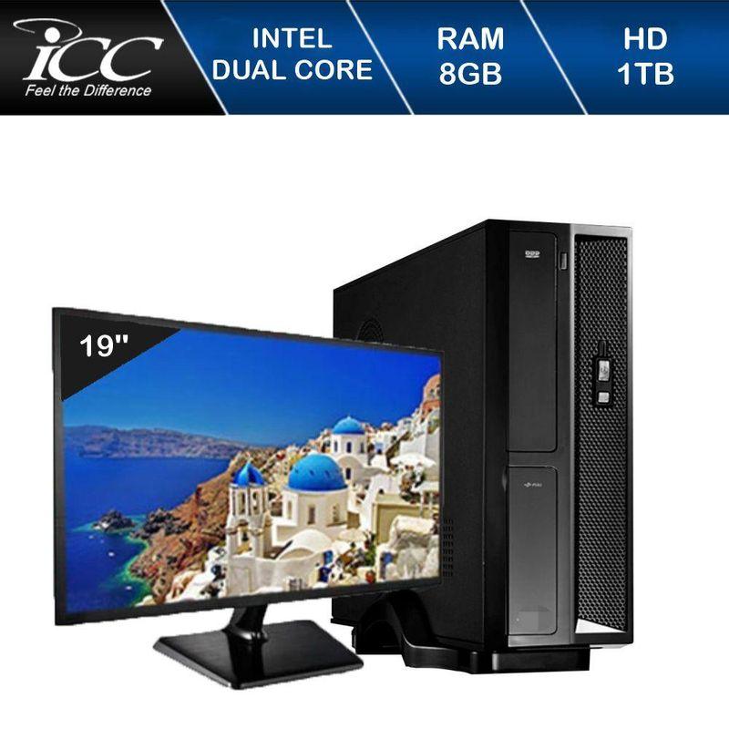 Desktop Icc Sl1882sm19 Celeron J1800 2.41ghz 8gb 1tb Intel Hd Graphics Linux Com Monitor