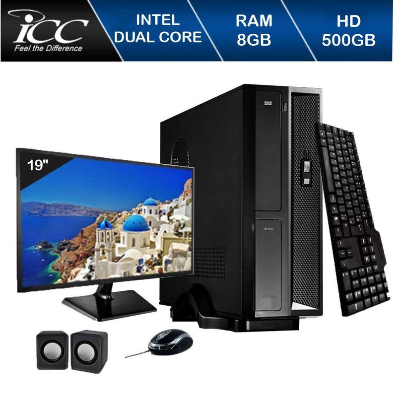 Desktop Icc Sl1881km19 Celeron J1800 2.41ghz 8gb 500gb Intel Hd Graphics Linux Com Monitor