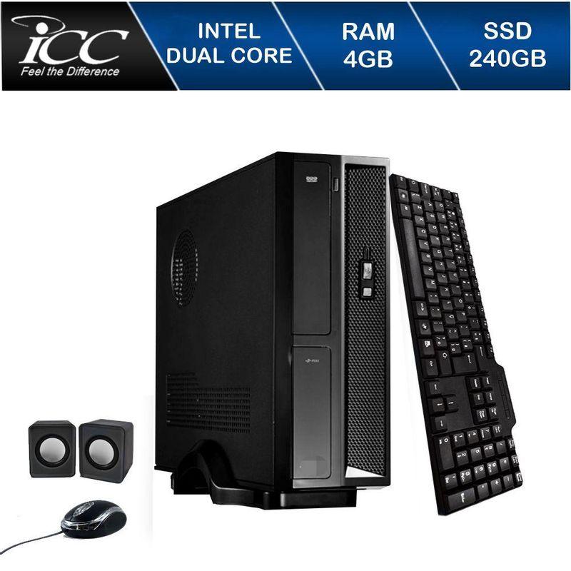 Desktop Icc Sl1847k Celeron J1800 2.41ghz 4gb 240gb Intel Hd Graphics Linux Sem Monitor