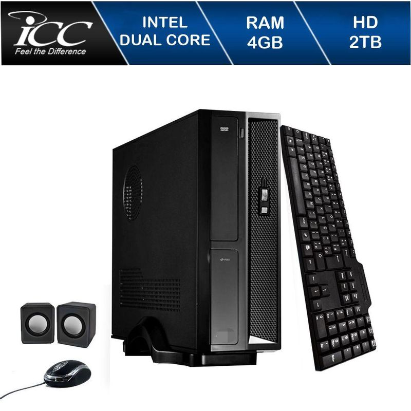 Desktop Icc Sl1843c Celeron J1800 2.41ghz 4gb 640gb Intel Hd Graphics Linux Sem Monitor