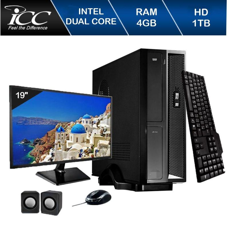 Desktop Icc Sl1842cm19 Celeron J1800 2.41ghz 4gb 1tb Intel Hd Graphics Linux Com Monitor