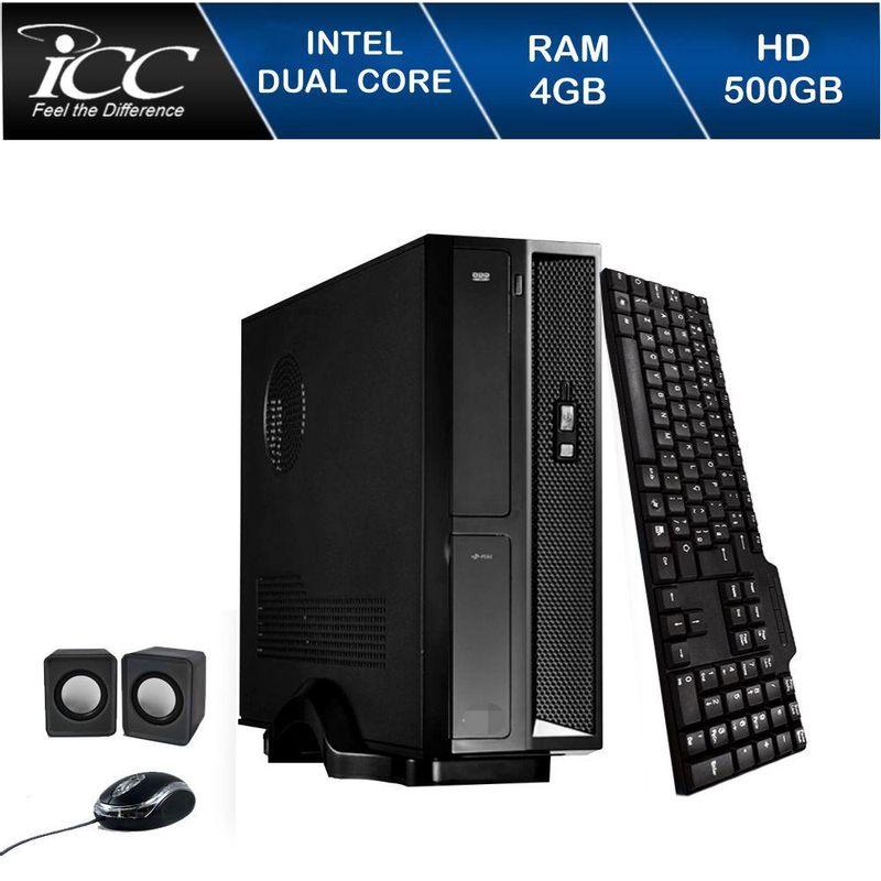 Desktop Icc Sl1841c Celeron J1800 2.41ghz 4gb 500gb Intel Hd Graphics Linux Sem Monitor