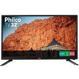 TV LED 32' Philco PTV32F10D HD 2 HDMI 1 USB Preta Philco