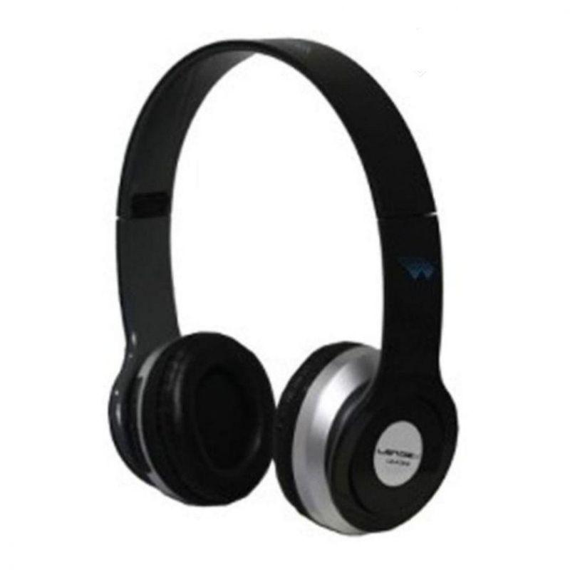 Fone de Ouvido Headphone Com Player Mp3 Microsd Fm Preto Lendex Ld-foh4