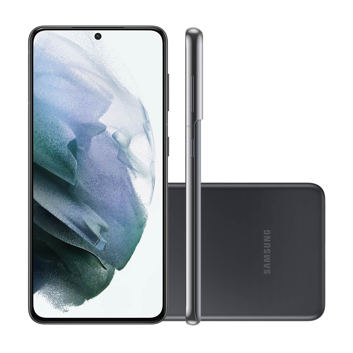 "Smartphone Samsung Galaxy S21 5G 128GB Cinza Tela 6.2"" Câmera Tripla 64MP Selfie 10MP Dual Chip Android 11"