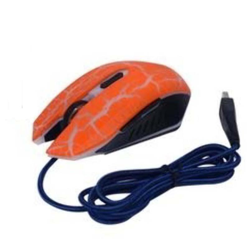 Mouse Usb Óptico Led 3400 Dpis R-horse R2300 Laranja Fc-5500 Gbmax