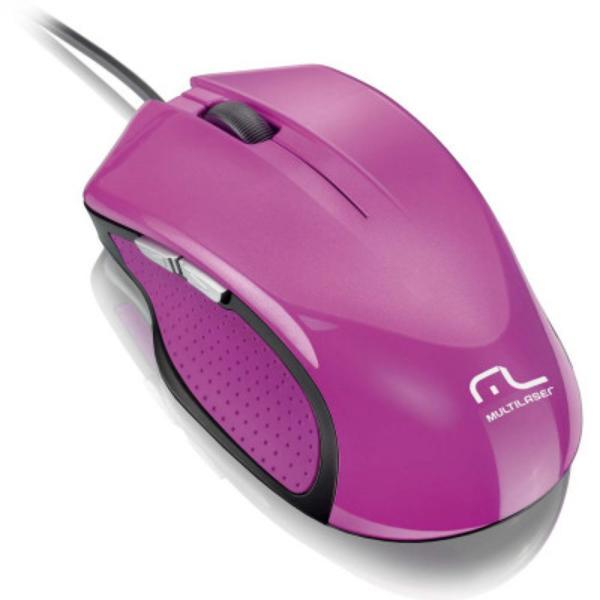 Mouse Usb Óptico Led 2400 Dpis Xgamer Rosa Mo201 Multilaser