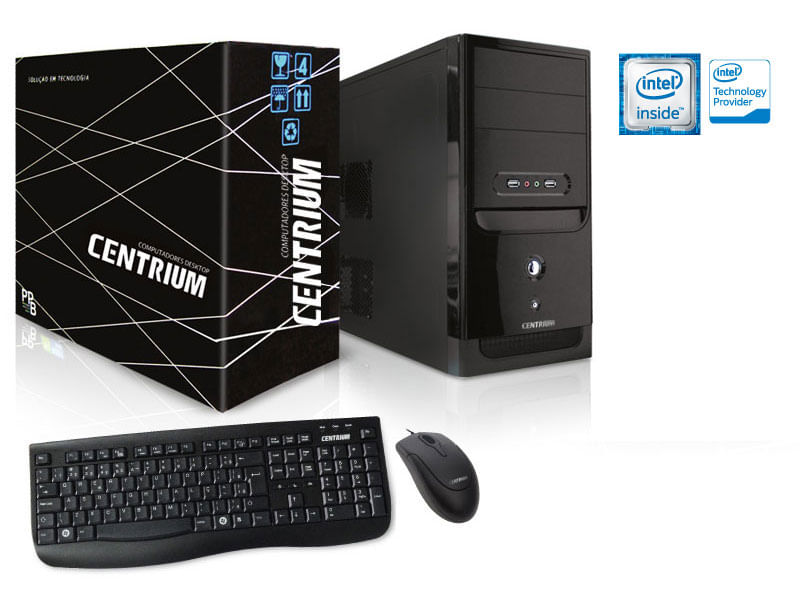 Desktop Centrium Thinline Celeron J3060 1.60ghz 4gb 500gb Intel Hd Graphics 400 Linux Sem Monitor