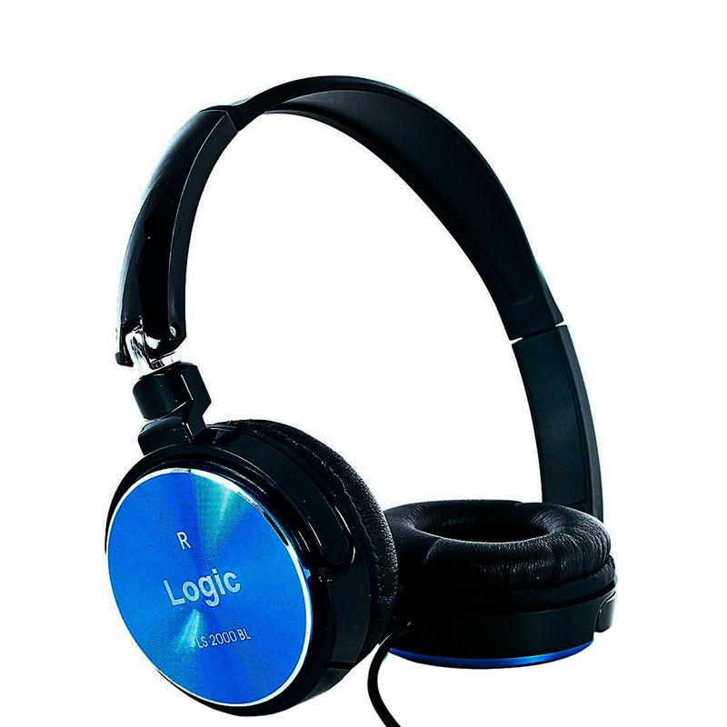 Fone de Ouvido Headphone Stereo Azul Logic Ls2000bl