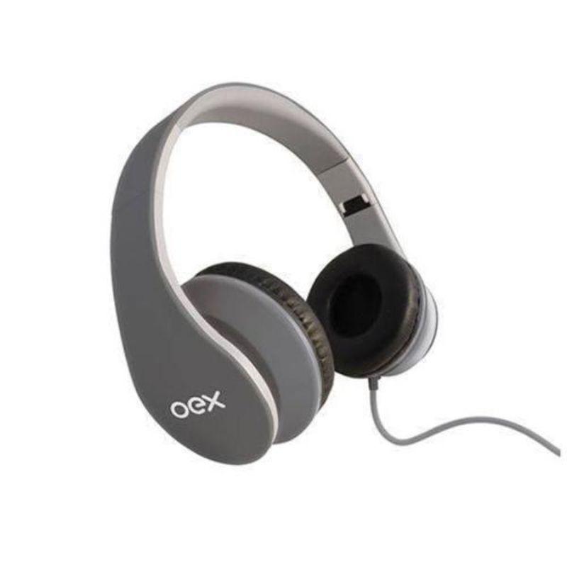 Fone de Ouvido Headphone Over Ear Sense Cinza Oex Hp-100