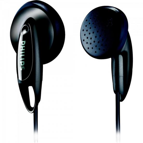 Fone de Ouvido Auricular Estéreo Preto Philips She1350/00