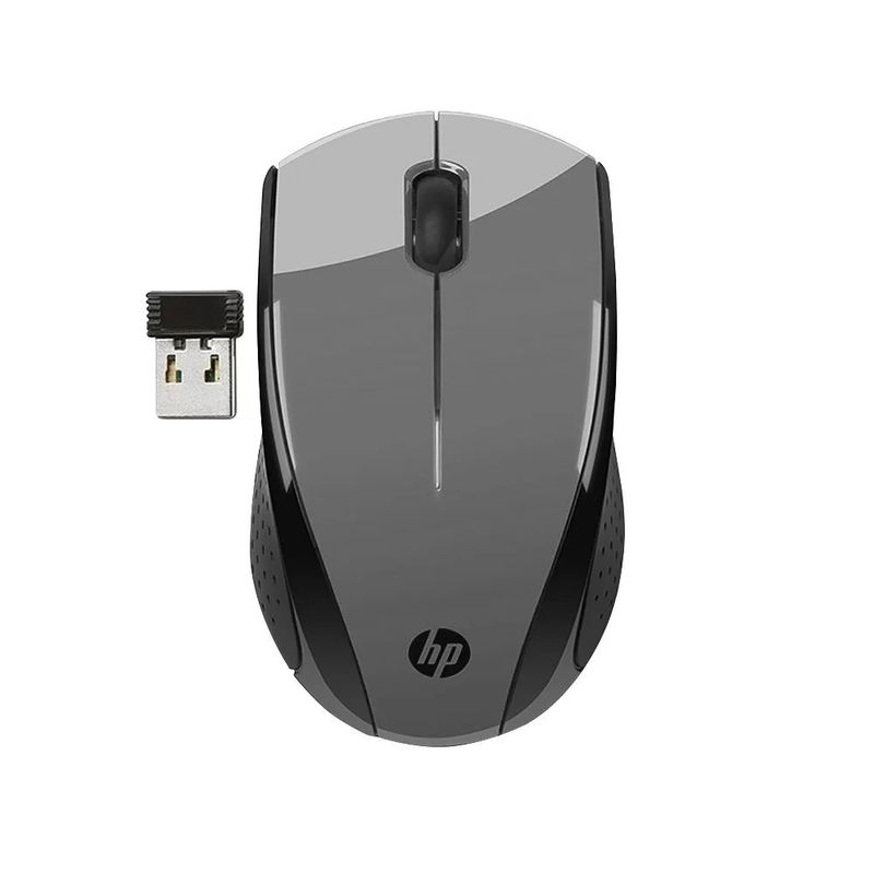 Mouse Wireless Óptico Led 1600 Dpis X3000 Cinza Hp
