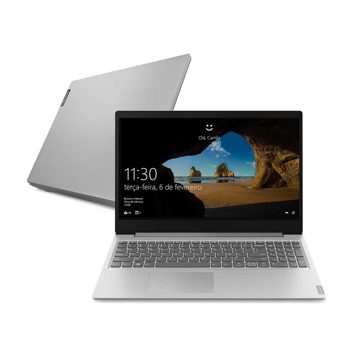 """Menor preço em Notebook Lenovo Intel Core i5 8GB 1Tb 15.6"""" Windows 10 81S90005BR Prata"""