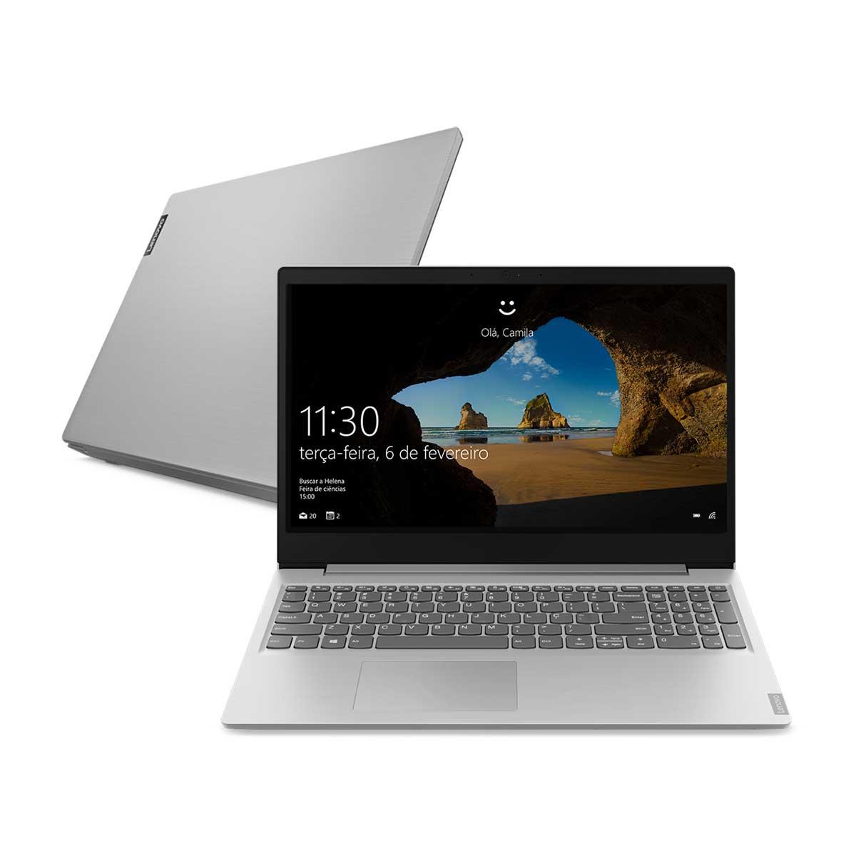 "Menor preço em Notebook Ultrafino Lenovo Ideapad Ryzen 3-3200U 8GB 256GB SSD Tela 15.6"" Windows 10 S145 81V7000CBR"