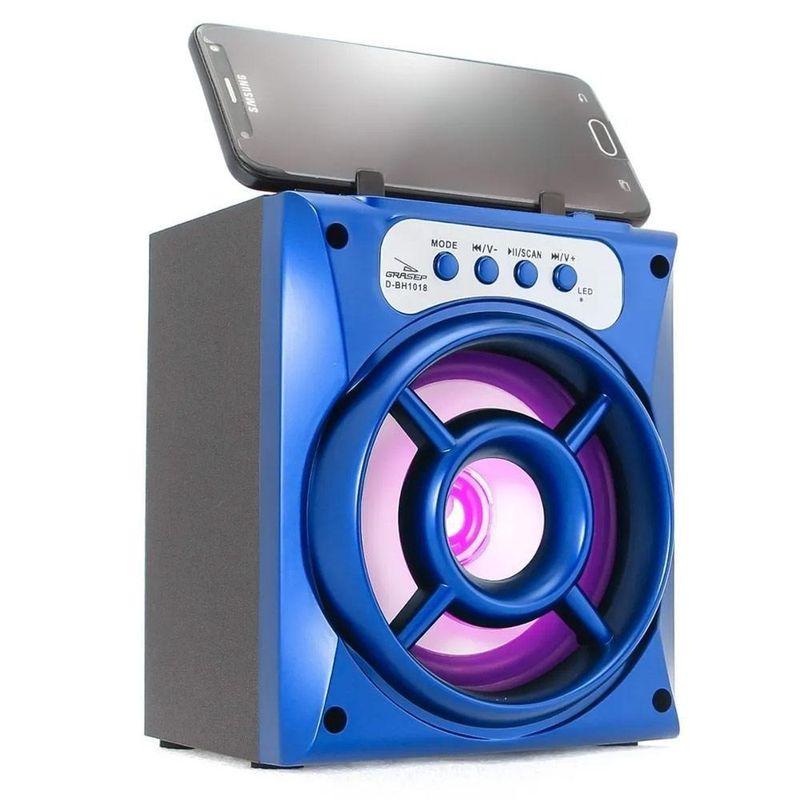 Caixa de Som Grasep Azul D-bh1018