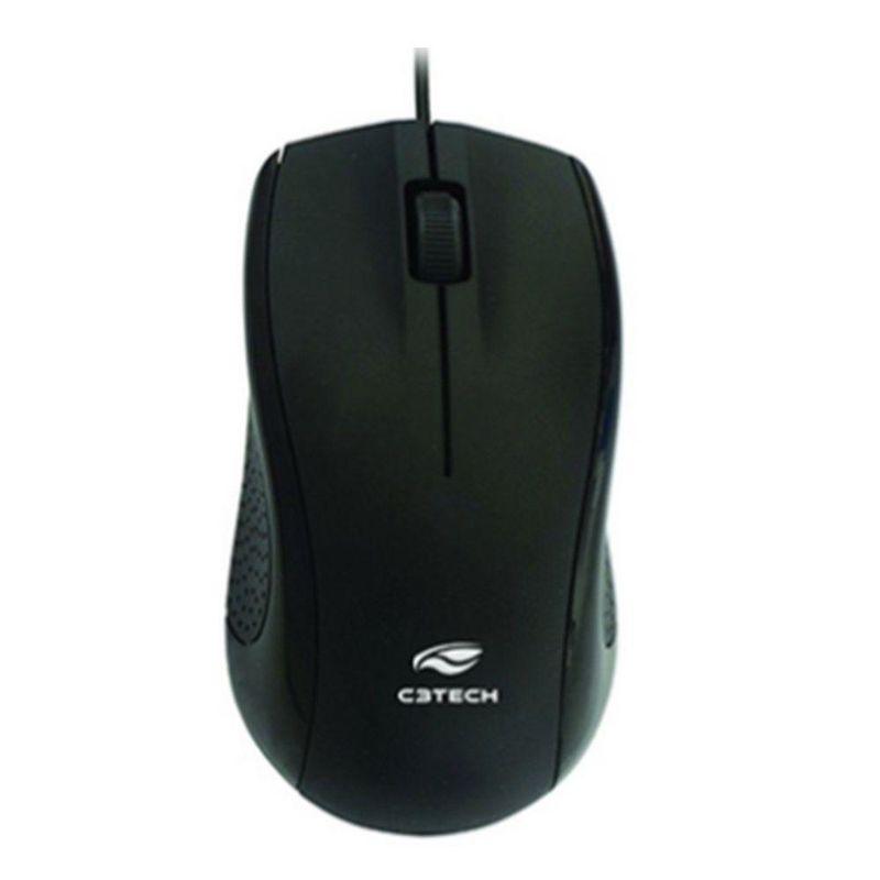 Mouse Usb Óptico Led 1000 Dpis Ms-26bk C3 Tech