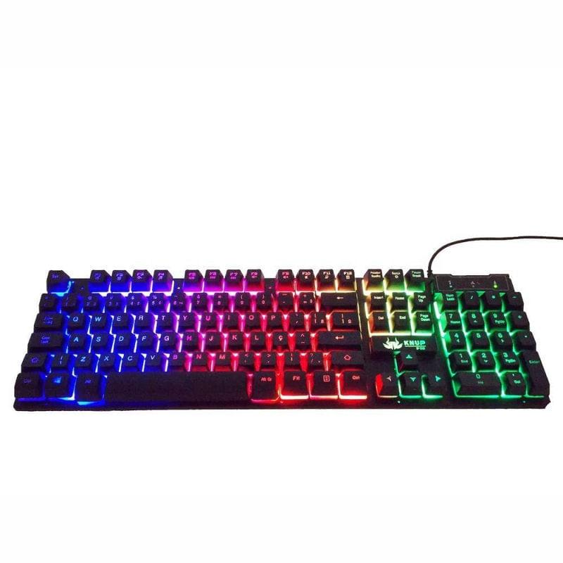 Teclado Usb Gamer Luminoso Kp-2043 Knup