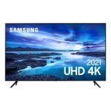 """Smart TV Samsung 50"""" UHD Processador Crystal 4K 50AU7700 Tela Sem Limites Visual Livre de Cabos"""
