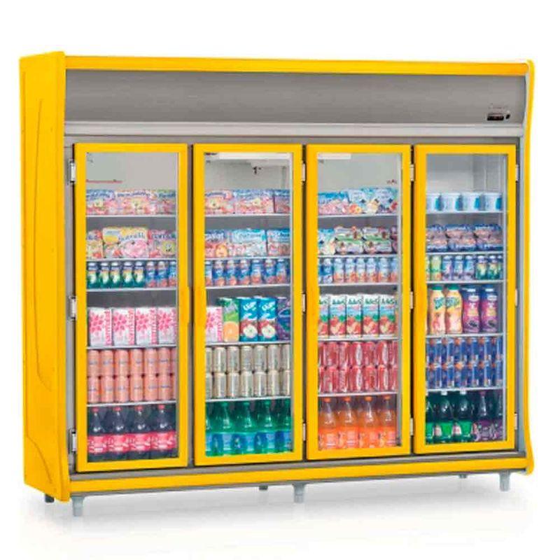 Geladeira/refrigerador 1783 Litros 4 Portas Amarelo - Gelopar - 220v - Gevt-4p
