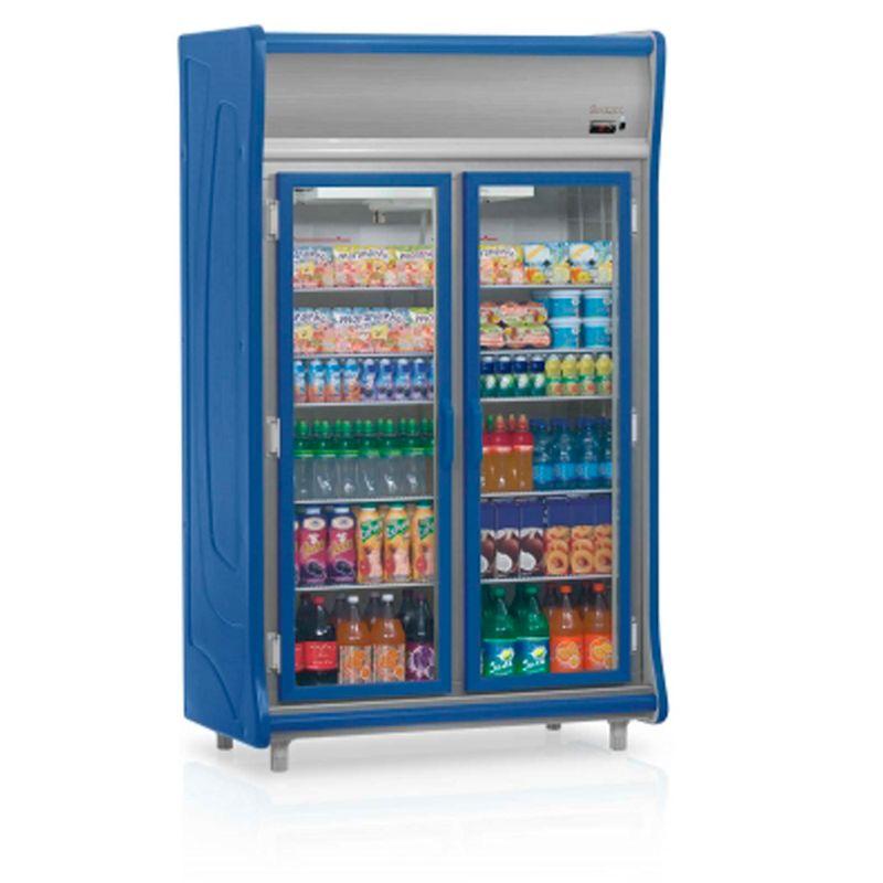 Geladeira/refrigerador 922 Litros 2 Portas Azul - Gelopar - 220v - Gevt-2p