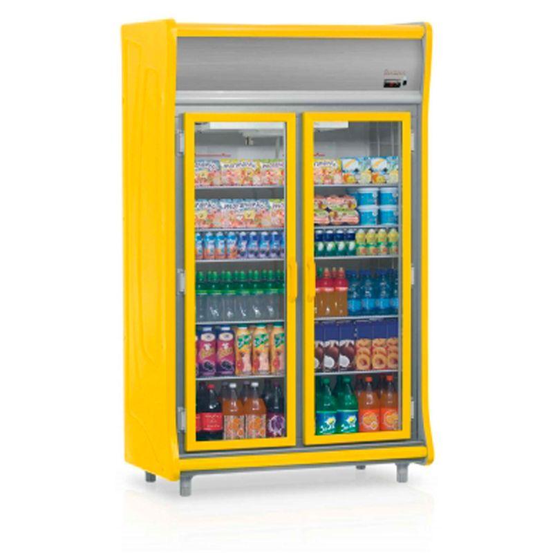 Geladeira/refrigerador 922 Litros 2 Portas Amarelo - Gelopar - 220v - Gevt-2p