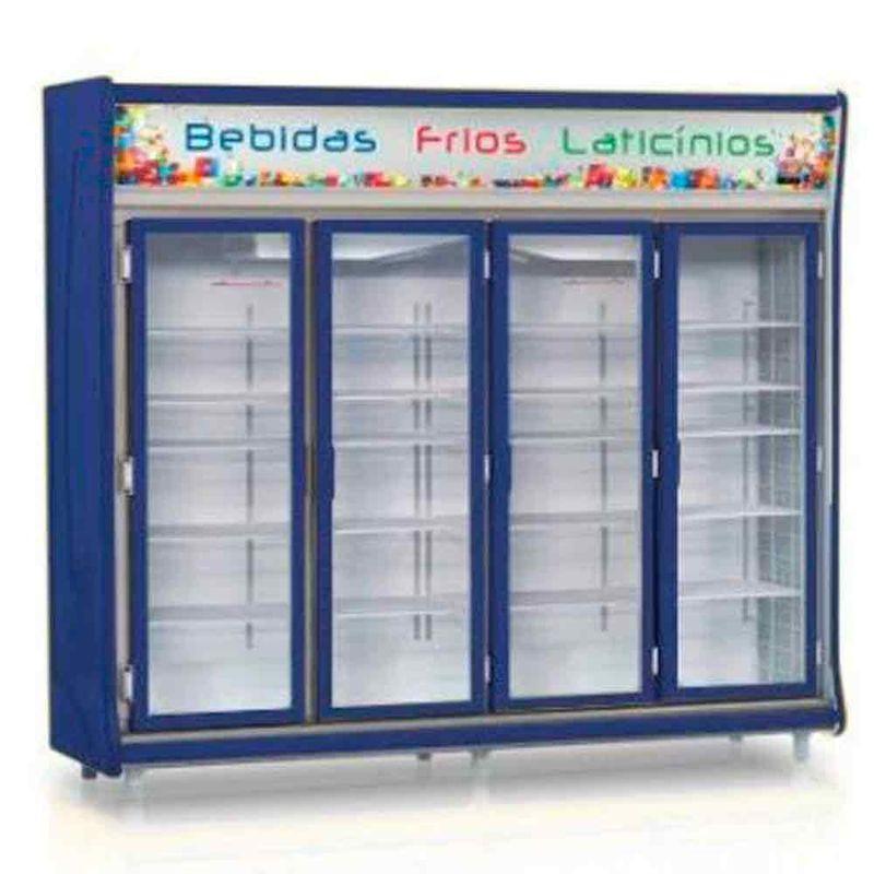 Geladeira/refrigerador 1783 Litros 4 Portas Azul - Gelopar - 110v - Gevt-4p