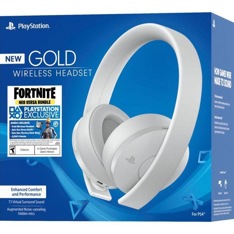 Fone de Ouvido Headset Gamer Gold Wireless Stereo Branco Sony
