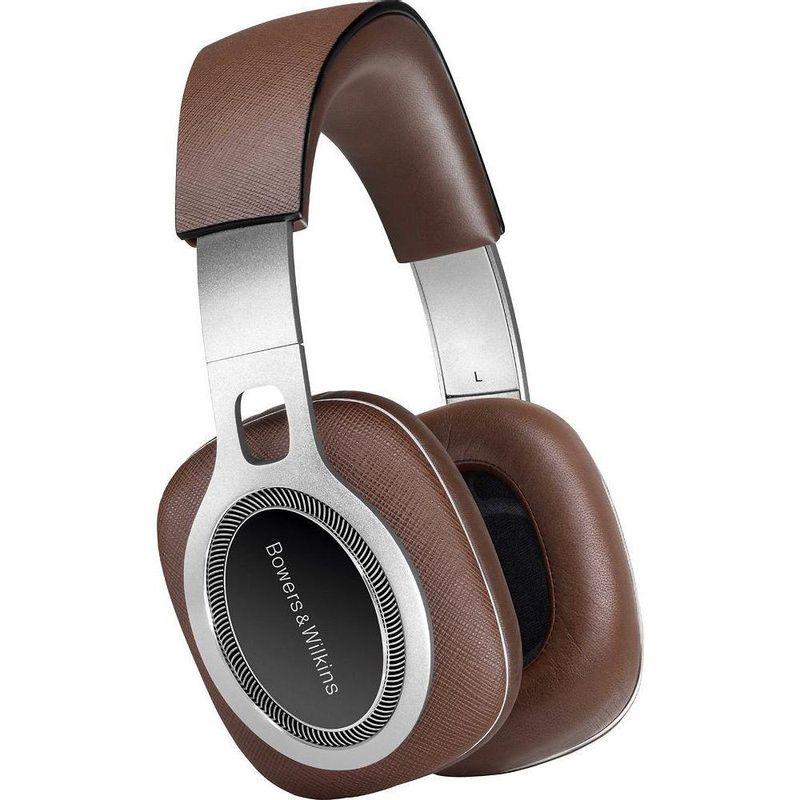 Fone de Ouvido Headphone P9 Signature Over-ear Couro Italiano Saffiano Marrom Bowers & Wilkins