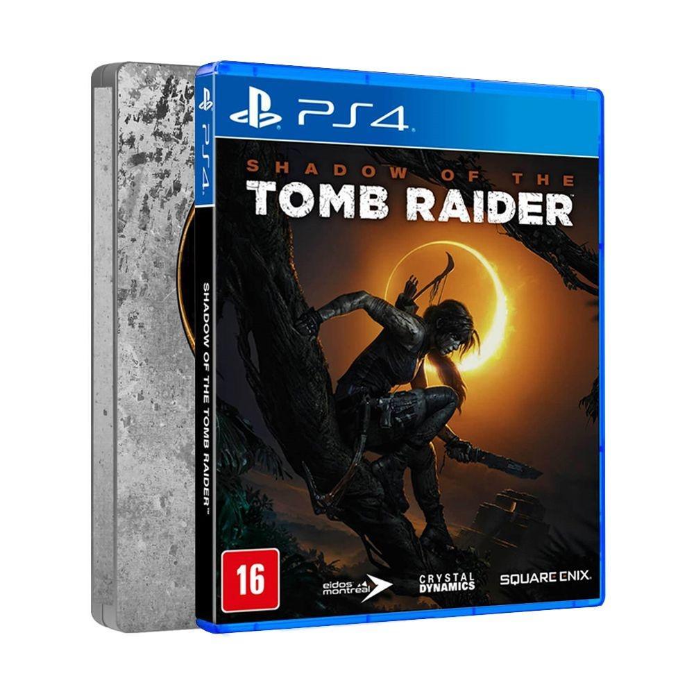 Jogo Shadow Of The Tomb Raider Steelbook Edition - Playstation 4 - Sony