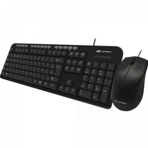 Kit Teclado e Mouse 1600 Dpis Multimídia Kt-100bk C3 Tech