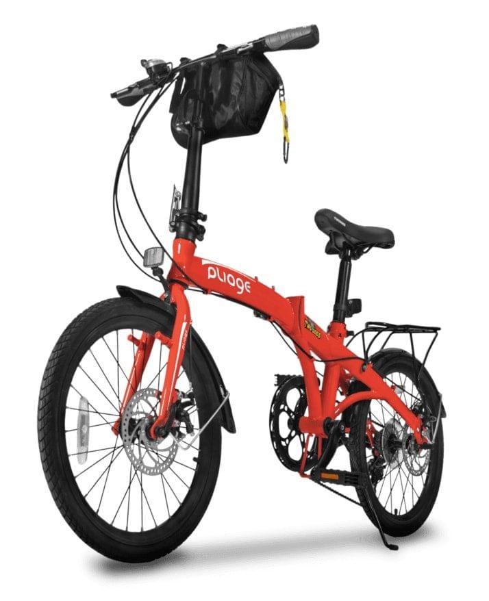 Bicicleta Two Dogs Pliage Aro 20 Rígida 7 Marchas - Vermelho